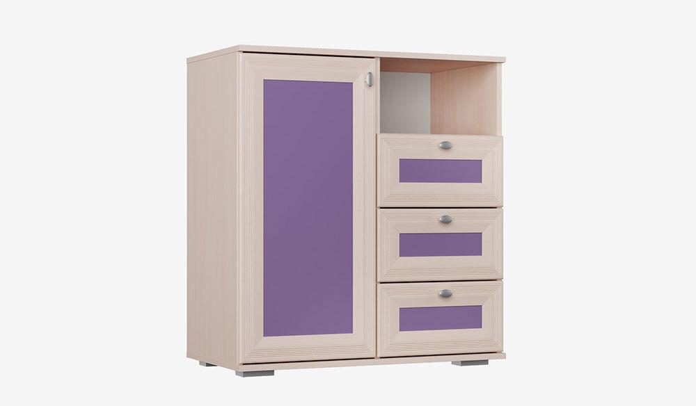 Комод для детской Бриз. Фиолетовый