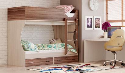 Двухъярусная кровать Д2. Ясень