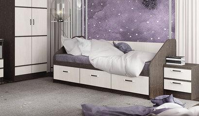 Кровать Алёнка. Венге