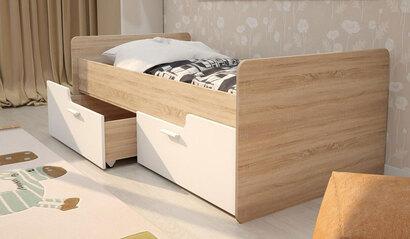 Детская кровать с ящиками Умка