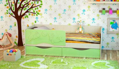 Детская кроватка Дельфин-2. Эвкалипт. 1.6 м