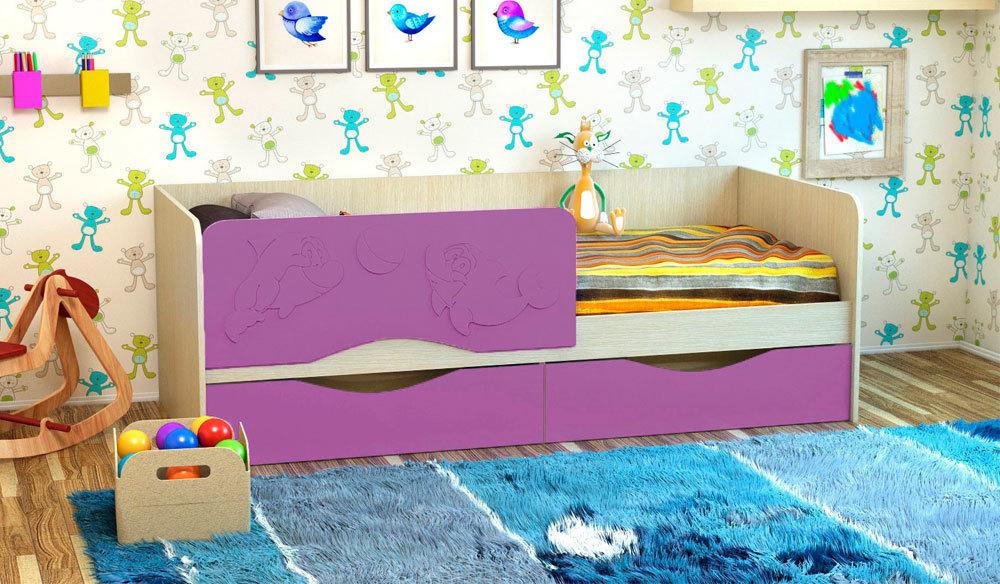 Детская кроватка Дельфин-2. Сакура. 1.6 м