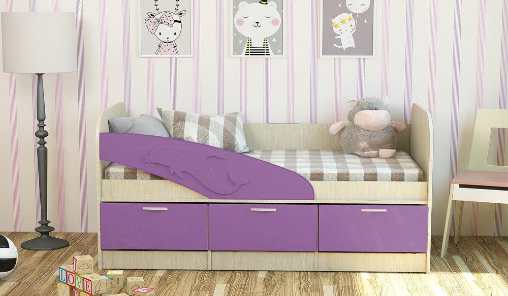 Детская кроватка Дельфин. Сакура. 1.6 м