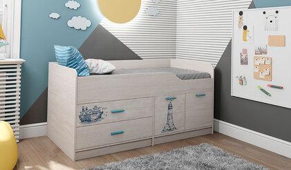 Кровать-чердак Каприз-17 с УФ-печатью