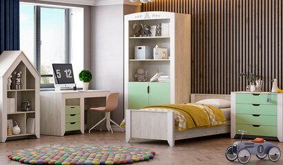 Коллекция детской мебели Буква. Фисташка софт