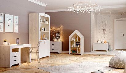 Коллекция детской мебели Буква. Белый софт