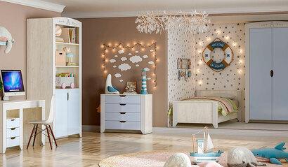 Коллекция детской мебели Буква. Ниагара софт