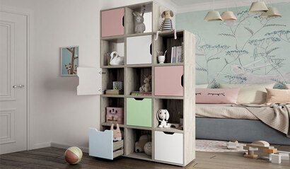 Коллекция детской мебели Буква. Стеллаж