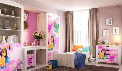 Коллекция детской мебели Буква. Пони