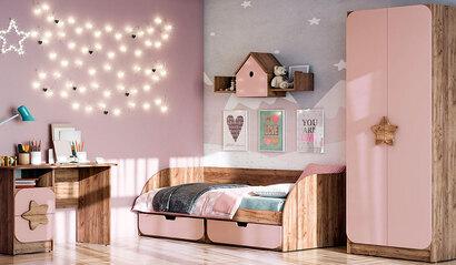 Коллекция детской мебели Колибри. Роза софт