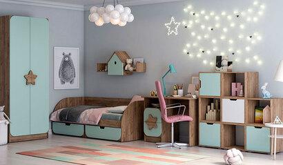 Коллекция детской мебели Колибри. Фисташка софт