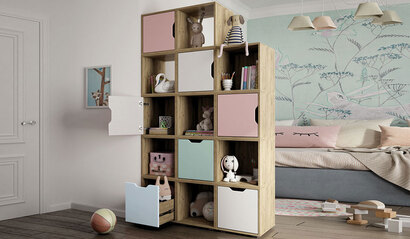 Коллекция детской мебели Колибри. Стеллаж
