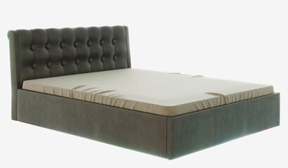 Кровать Лагуна с подъёмным механизмом. Коричневая