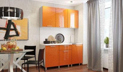 Кухонный гарнитур Блёстки оранж 1.5 м