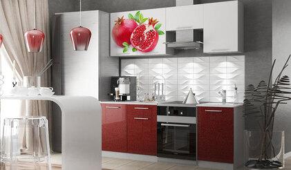 Кухня с фотопечатью Гранат 2.1