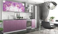 Кухня с фотопечатью Дикая орхидея 2.0