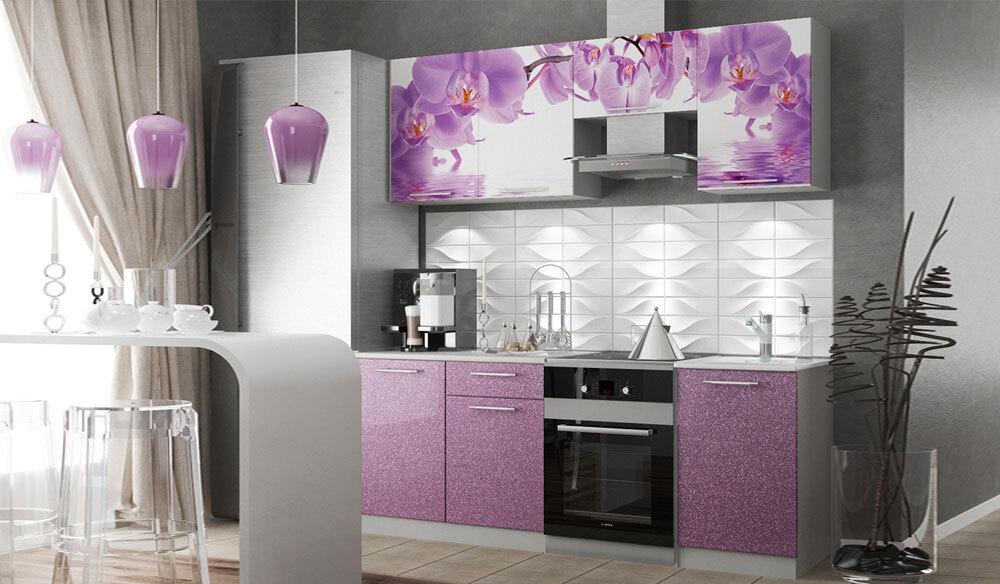 Кухня с фотопечатью Дикая орхидея 2.1