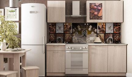 Кухонный гарнитур Легенда 16 (1.5) ЛДСП. Ясень