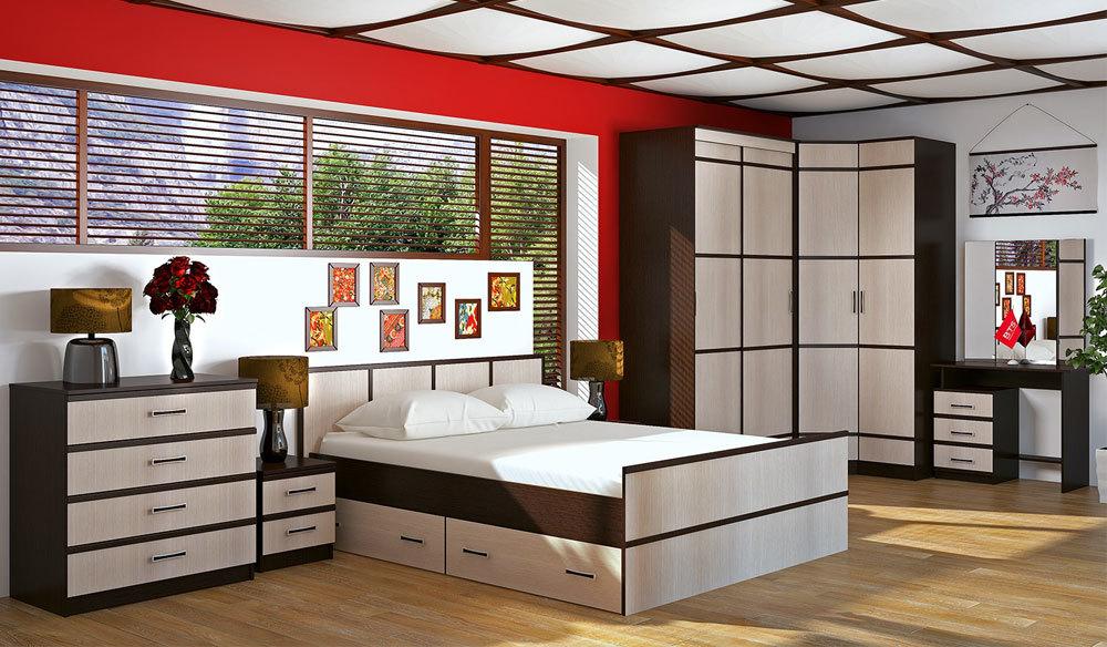 Спальня Сакура. Комплект 1