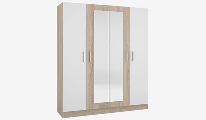 Шкаф 4-х дверный Леси. Сонома