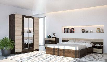Спальня Леси. Комплект 1. Дуб кантербери