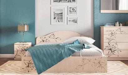 Кровать Кр-2. Цветы