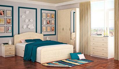 Спальня Эльза. Комплект 2. Перламутр