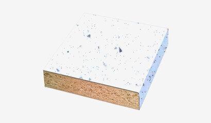 Столешница Ледяная искра белая глянец №55