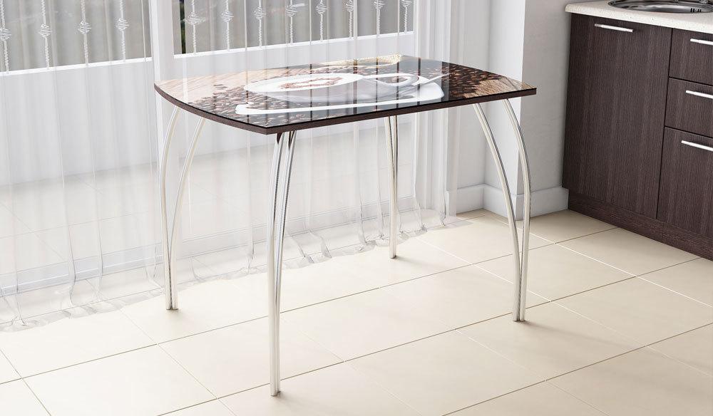 Стол обеденный №6 Венге/Хром
