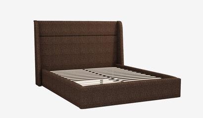 Мягкая кровать Бруклин. Коричневая