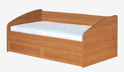 Кровать 3 спинки с ящиками и матрасом 900 Вишня