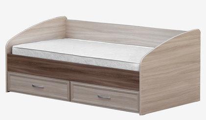 Кровать 3 спинки с ящиками 900 Ясень