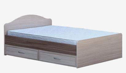 Кровать с ящиками 1400 Ясень