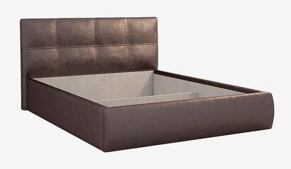 Мягкая кровать 1.4 Куба. Шоколад