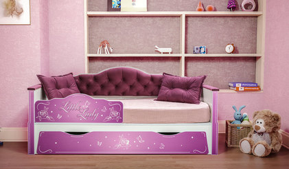 Детская кровать Ноктюрн. Белый/Велутто 15 темный