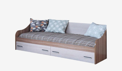 Кровать одинарная с ящиками Город