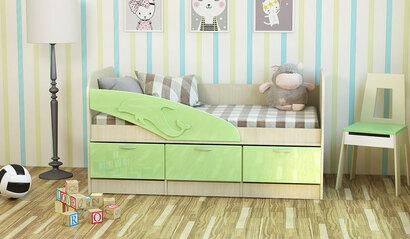 Детская кроватка Дельфин. Эвкалипт. 1.6 м