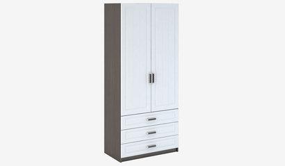 Шкаф 2-х створчатый бельевой с ящиками Прага МДФ ШК-905