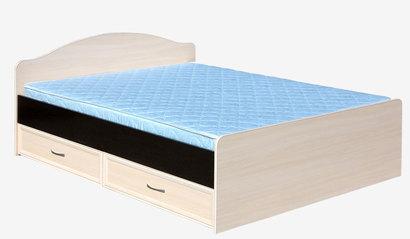 Кровать с ящиками 1400 Венге/Дуб