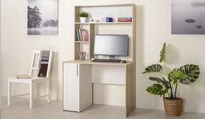 Комфорт Стол компьютерный 12.72. Дуб серый / Шелковый камень