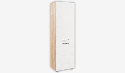 Шкаф Асти АШК 600.2. Белый глянец