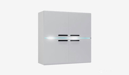Шкаф навесной Квадро. Белый глянец