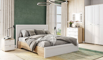 Спальня Ривьера белая. Комплект 2