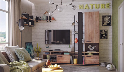 Модульная гостиная NATURE. Комплект 1