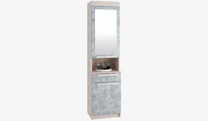 Шкаф с зеркалом Лофт. Бетон серый