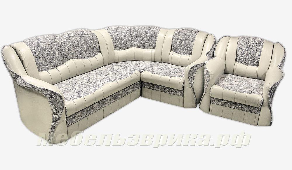 Угловой диван Цезарь с креслом
